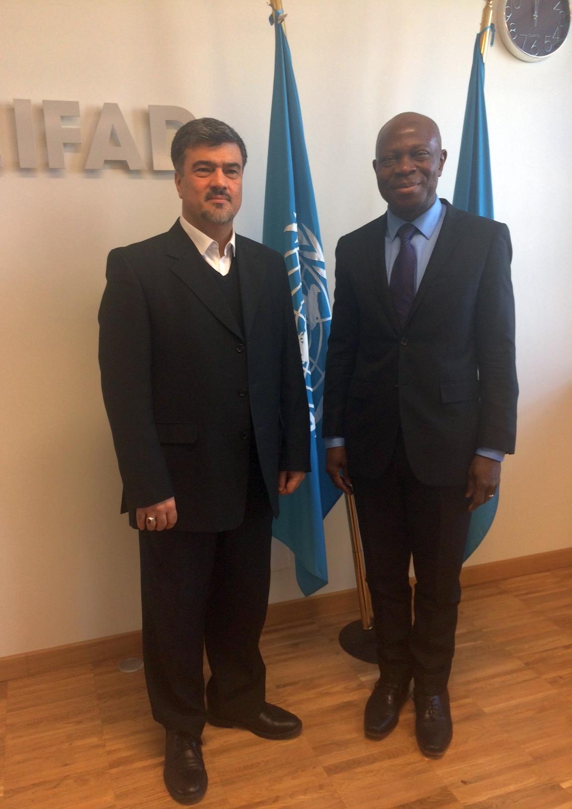 ملاقات با رئیس صندوق بین المللی توسعه کشاورزی