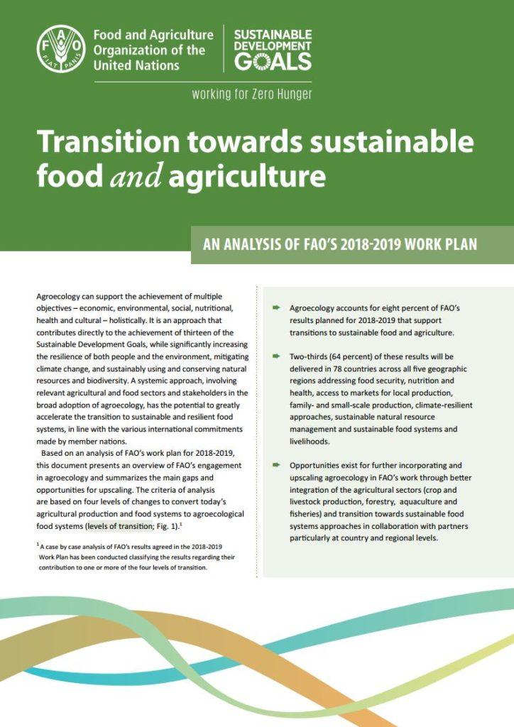 گذر به سوی غذا و کشاورزی پایدار