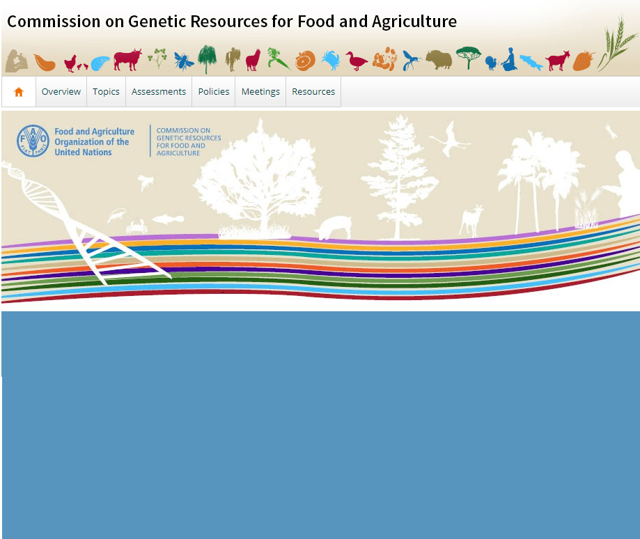 The 17th Regular Session of the Commission on Genetic Resources for Food and Agriculture will be held in Rome, 18–22 February 2019