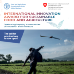 فراخوان تقاضای جایزه نوآوری بین المللی برای غذا و کشاورزی پایدار
