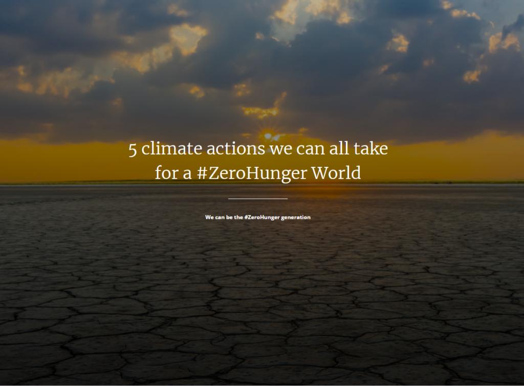 پنج اقدام  برای آب و هوا جهت کمک به گرسنگی صفر
