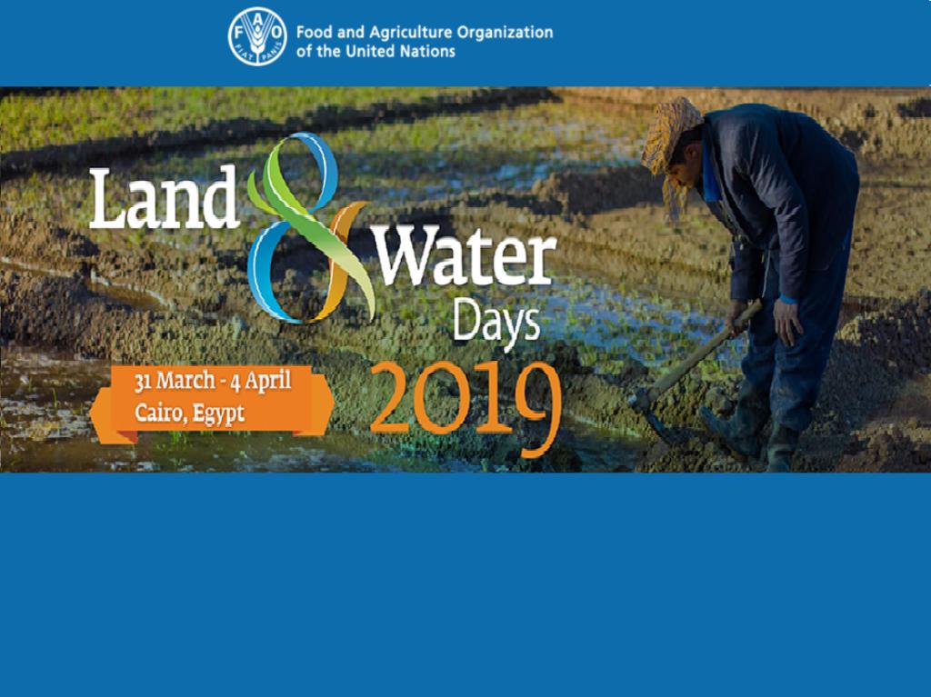 روز های آب و خاک منطقه خاورنزدیک و شمال آفریقا 31  مارس الی 4 آوریل 2019