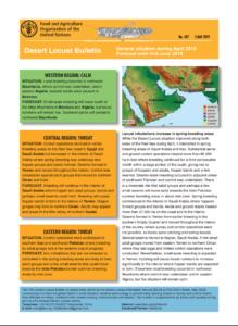 گزارش وضعیت ملخ صحرائی  ماه مه 2019