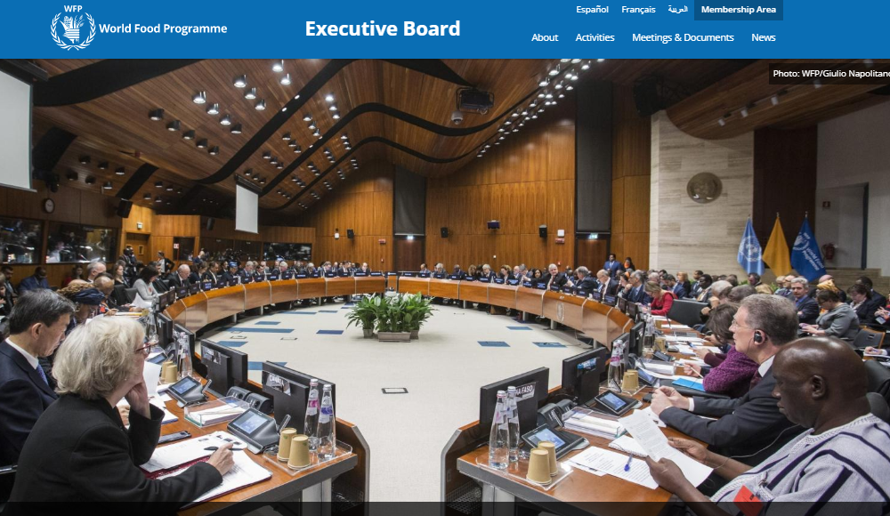 The annual session of the Executive Board will take place at WFP Headquarters from 10 to 14 June 2019