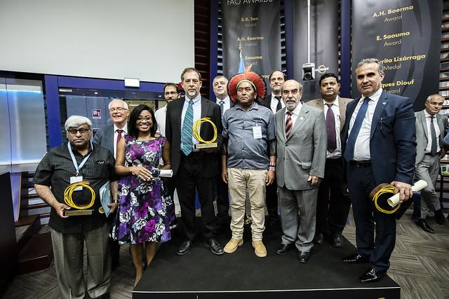 مراسم اهدای  جوایز کنفرانس فائو و جایزه نوآوری بین المللی برای غذا و کشاورزی پایدار