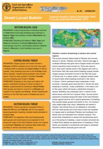 آخرین گزارش فائو در خصوص وضعیت آفت ملخ صحرائی