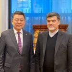دیدار دو جانبه با وزیر  غذا و کشاورزی و صنایع کشور مغولستان در حاشیه نشست شورای حکام ایفاد