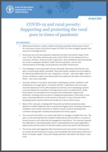 کوید 19 و فقر روستایی: نحوه  حمایت از  روستائیان در شرایط اپیدمی