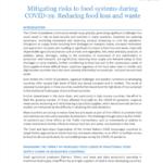 کاهش خطر برای نظام های غذایی در طی کوید19 : کاهش تلفات و ضایعات مواد غذایی