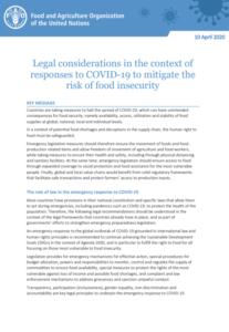 ملاحظات حقوقی برای کاهش خطر ناامنی غذایی در پاسخ به اپیدمی کوید